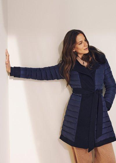 Pier coat with fur