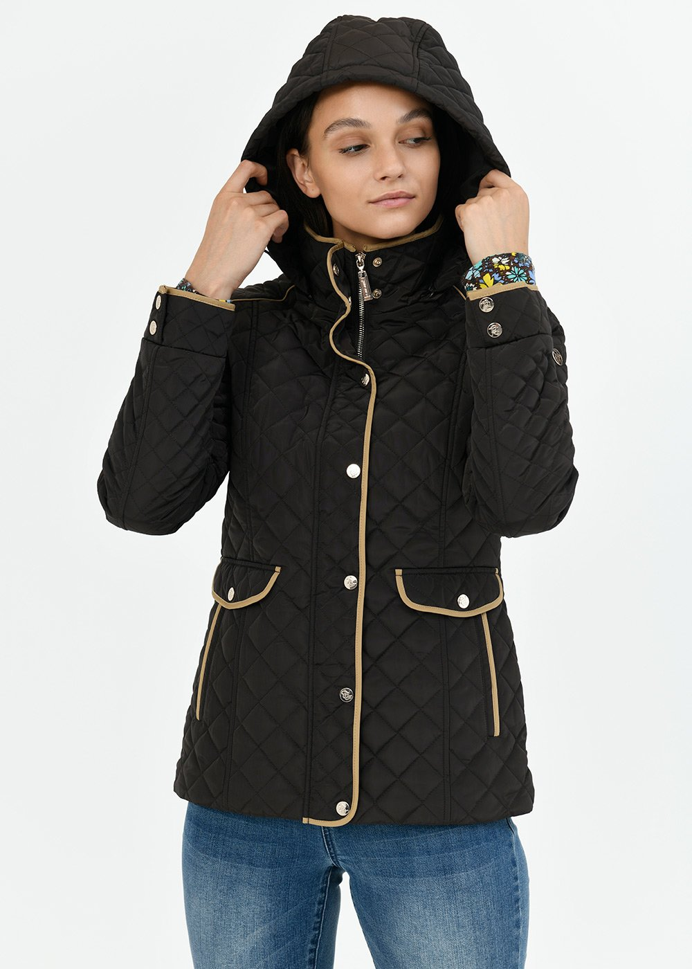 Gary jacket with quilted effect - Espresso - Woman
