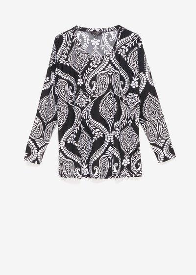 Shana T-shirt with paisley pattern