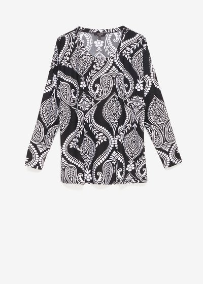 Shana T-shirt with paisley pattern