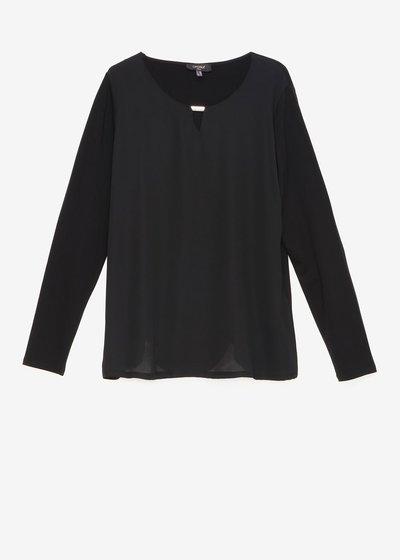 Shari double fabric T-shirt