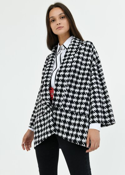 Clio black and white cardigan