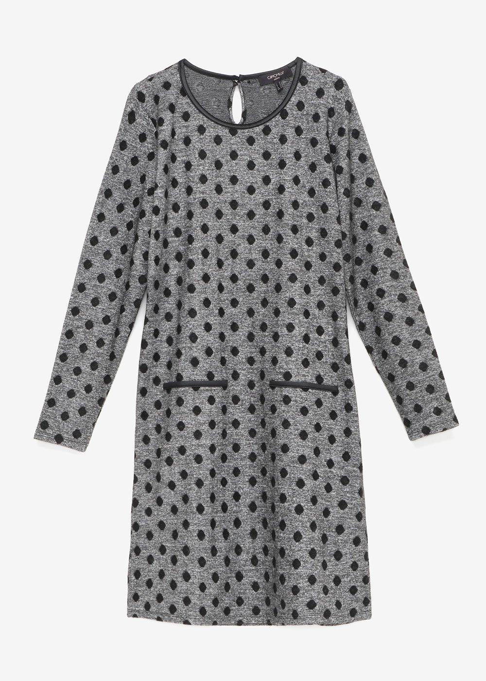 Avryl dress with polka-dot pattern - Black / Grey / Pois - Woman