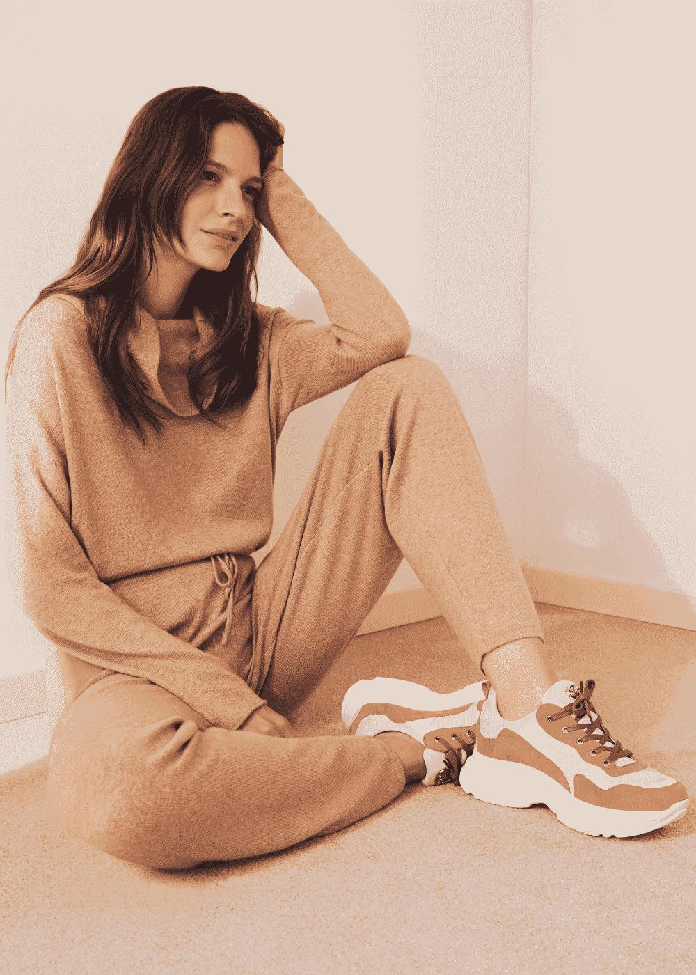 Samara tricolour sneakers - Brown - Woman