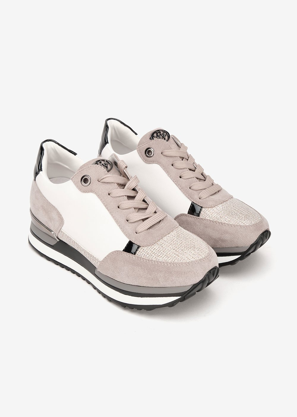 Sheryl sneakers with high crepe soles - Doeskin - Woman