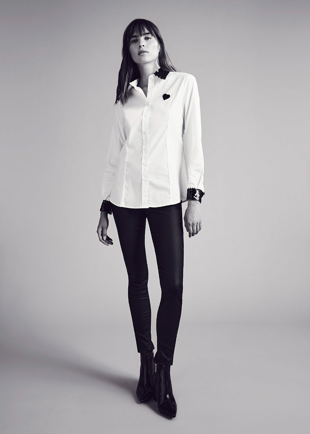 Camelia shirt with sequin detail - White - Woman