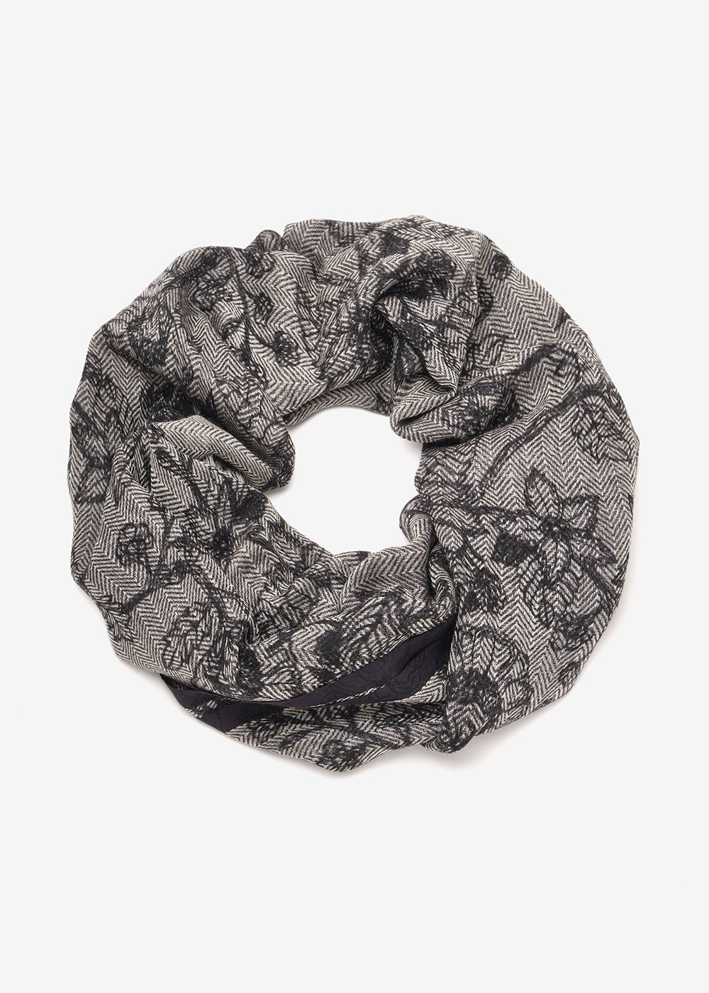 Sabrina wool scarf - Light Grey Fantasia - Woman