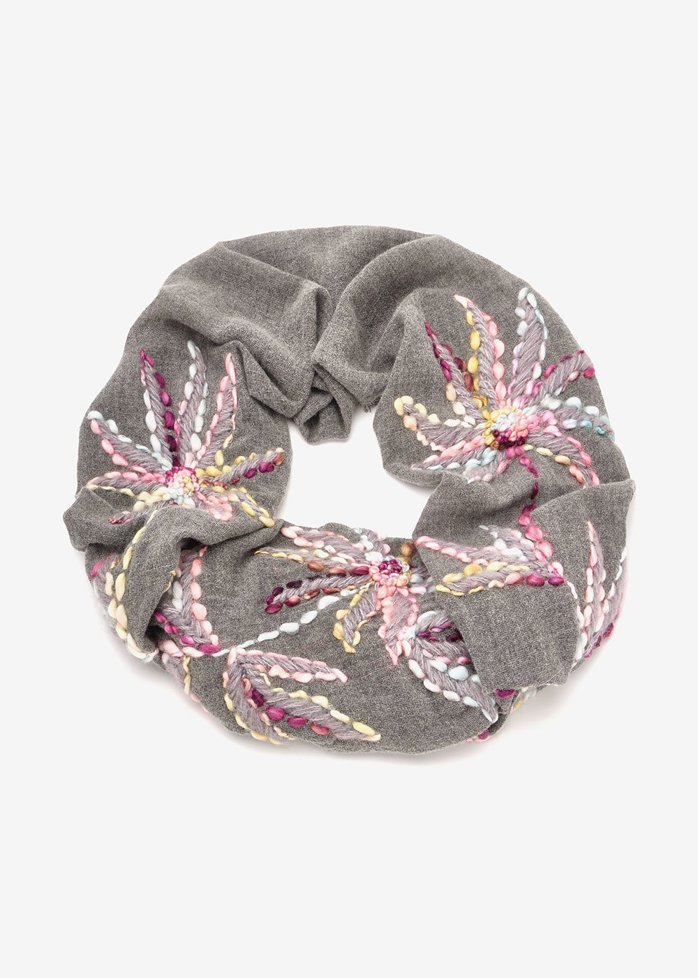 Selena wool scarf - Medium Grey Fantasia - Woman