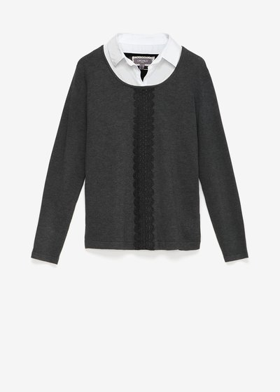 Martina two-in-one sweater with lace detail