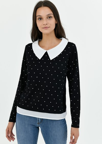 Marzia two-in-one sweater with stud detail