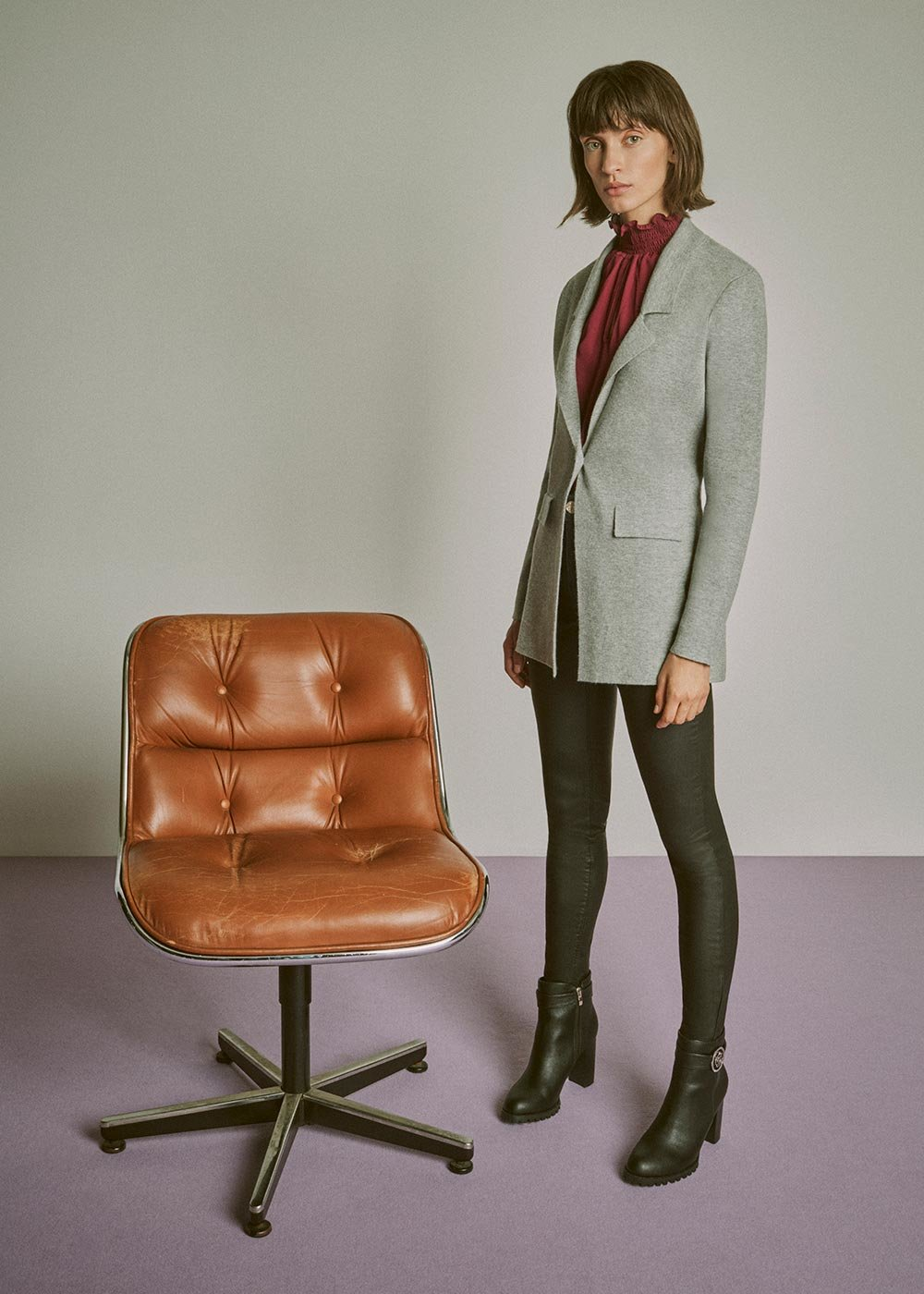 Cardigan Clio melange - Grey Melange - Donna