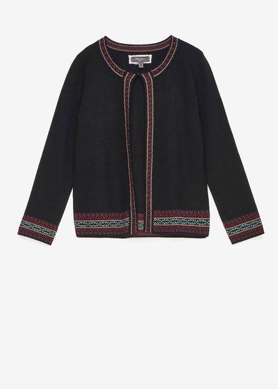 Clark shrug with jacquard embroidery