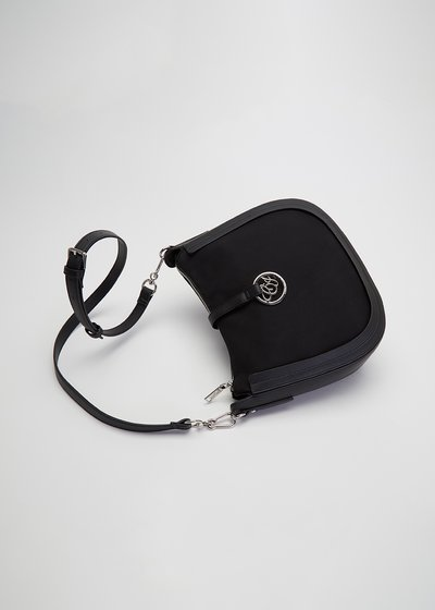 Bachou shoulder bag with clip closure