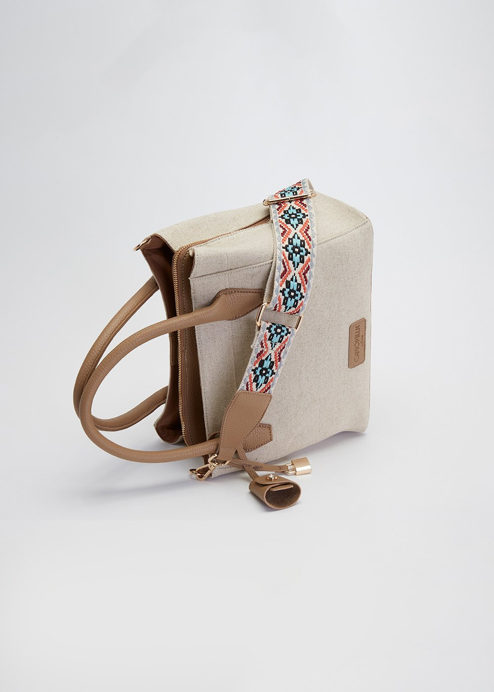 Blondy canvas bag - Light Beige - Woman