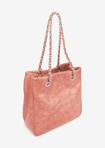 Camomilla Girl shopping bag with marbled effect