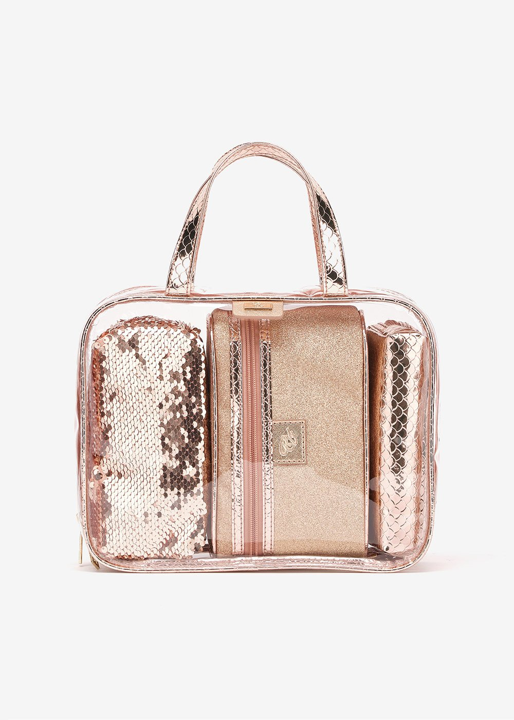 Bryan pvc vanity case set - Rose Gold - Woman