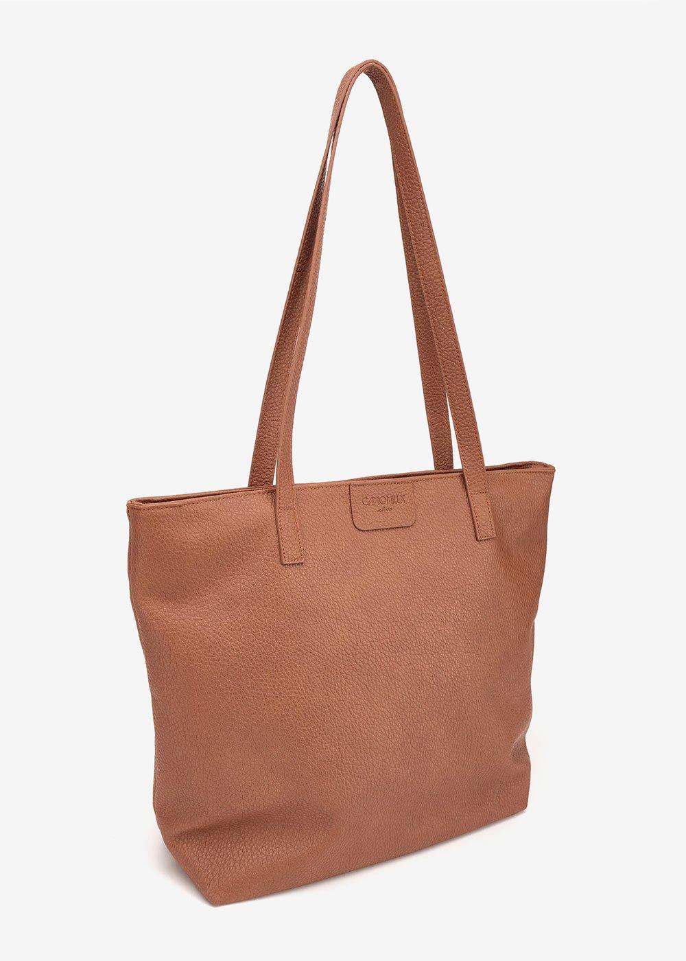 Badiascer shopping bag with deer print - Brown - Woman
