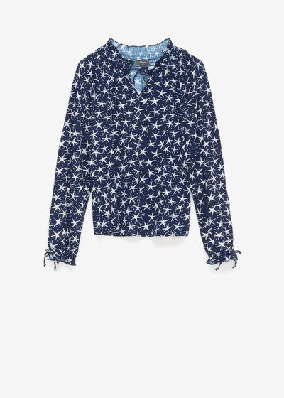 Susan t-shirt with star pattern