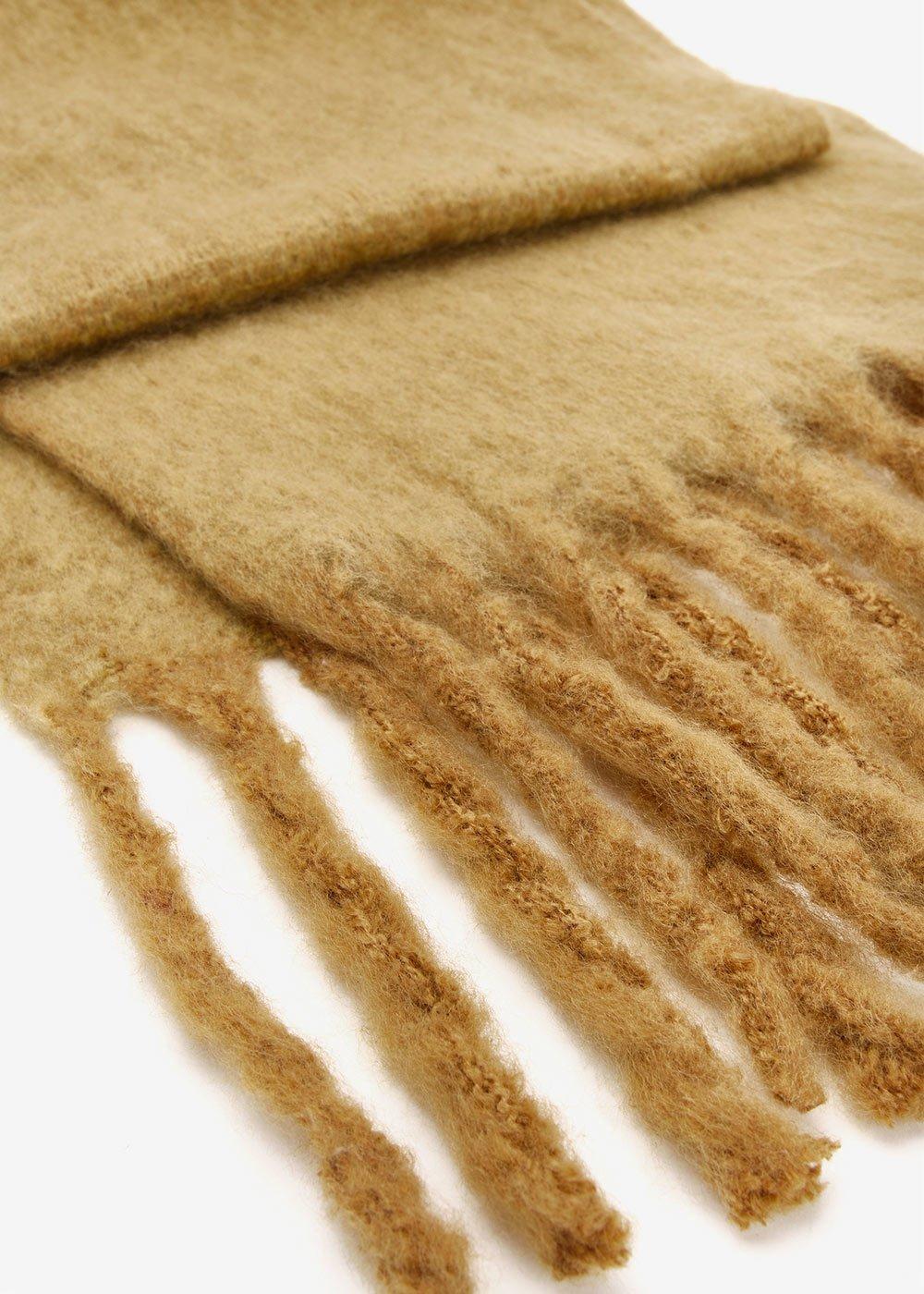 Sciarpa Sabry effetto lana cotta - Miele - Donna