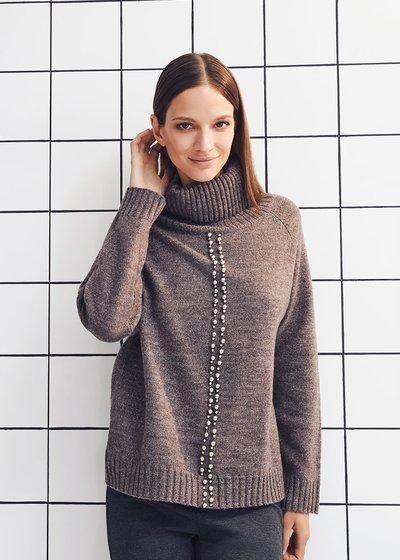 Marisa turtleneck sweater with studs