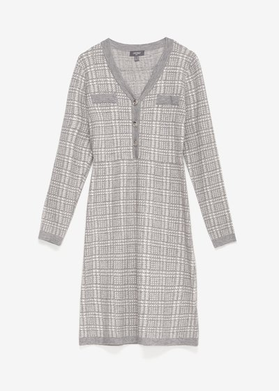 Adriano dress with check pattern