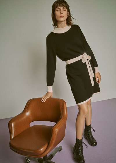 Achille two-tone dress