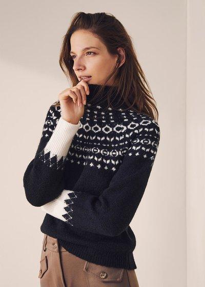 Mikela wool sweater with Norwegian pattern