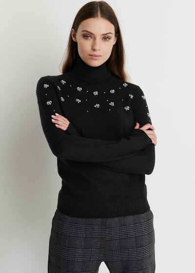 Melyssa Turtleneck Sweater with Strass