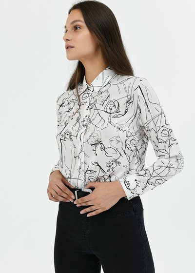 Alessia patterned shirt