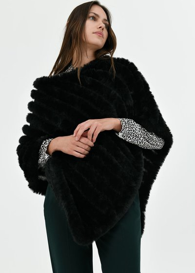 Madie faux-fur cape