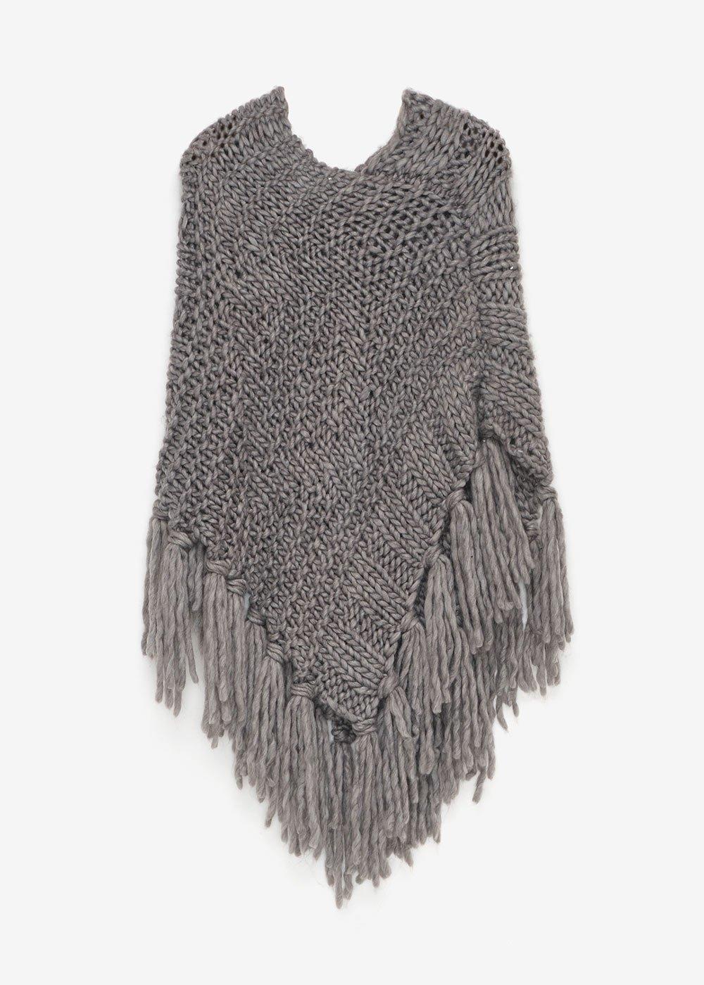 Mitzy high-necked cape - Medium Grey - Woman