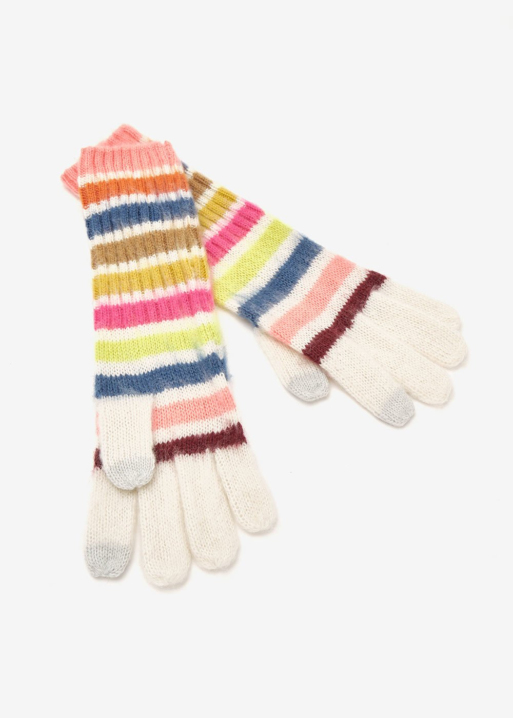 Gabri multicolour gloves - Ghiaccio Stripes - Woman
