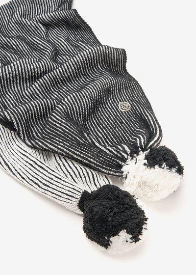 Sharry scarf with pompom on hem