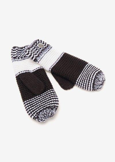 Gheren black and white gloves