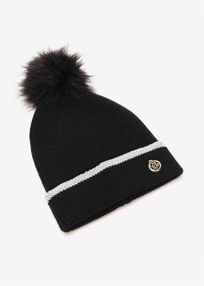 Cammi hat with lurex hem