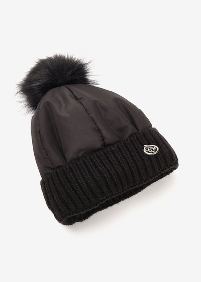 Chary nylon hat with pompom