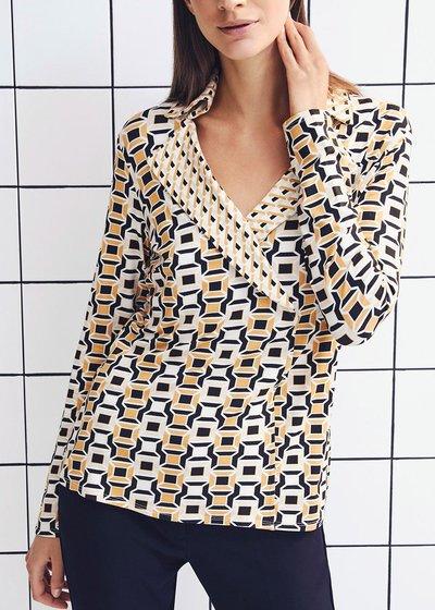 Silvye T-shirt with geometric pattern