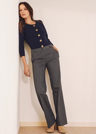 Clair poly-cotton trousers