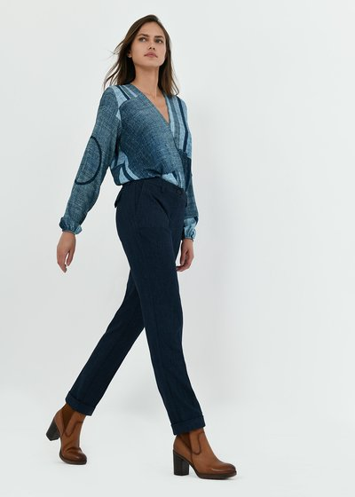Bella trousers with denim effect