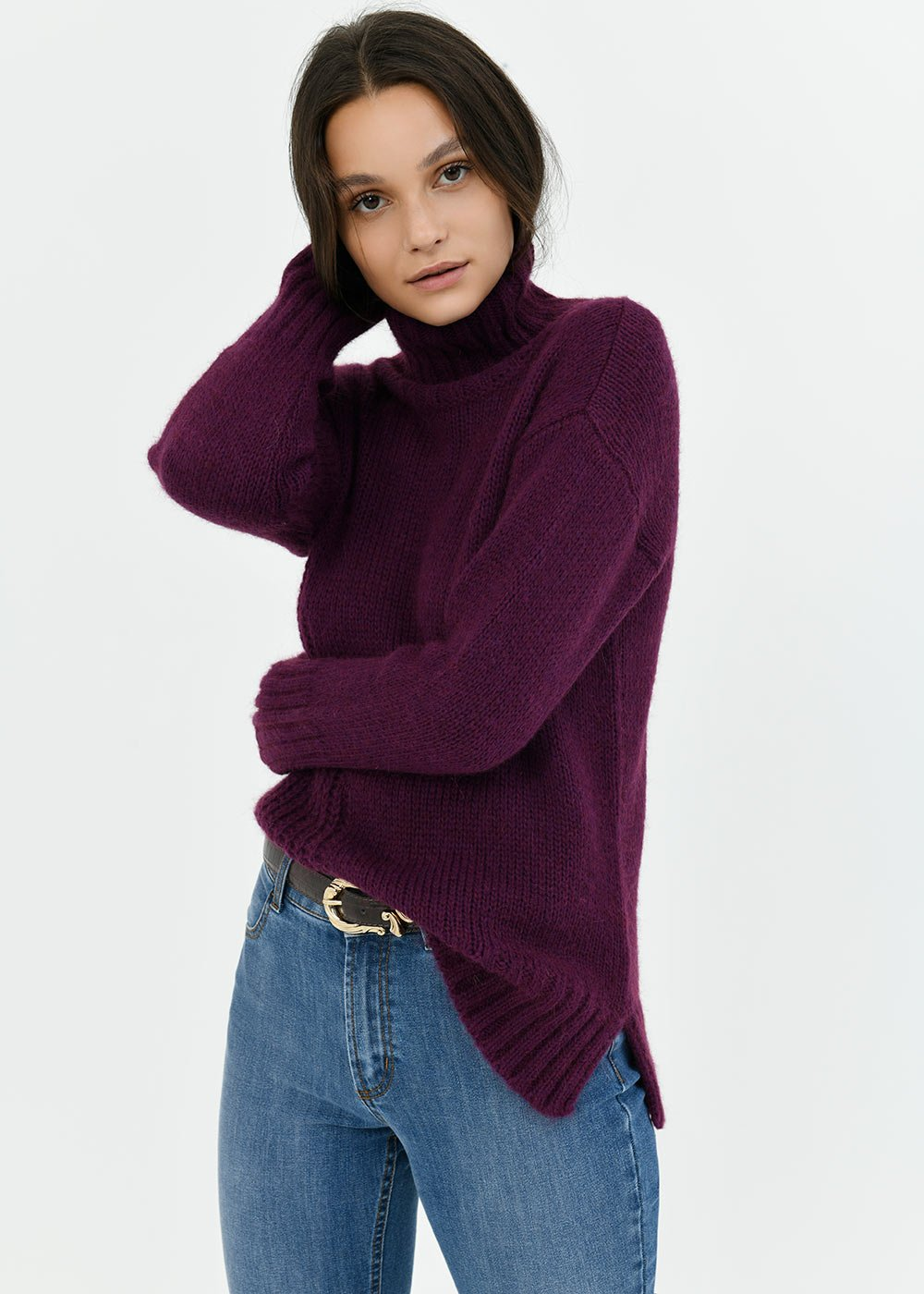 Melyna turtleneck sweater - Mora - Woman