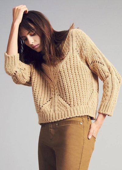 Maryel openwork stitch sweater