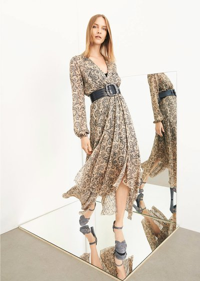 Ally dress with paisley print