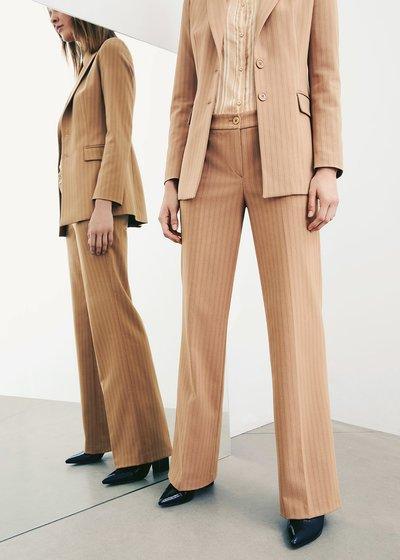 Giorgia pinstriped trousers