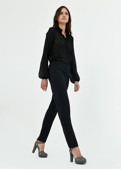 Pantalone Claudia con zip al fondo gamba