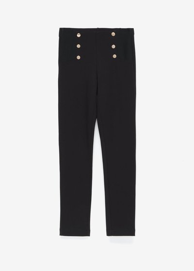 Leo leggings with golden buttons