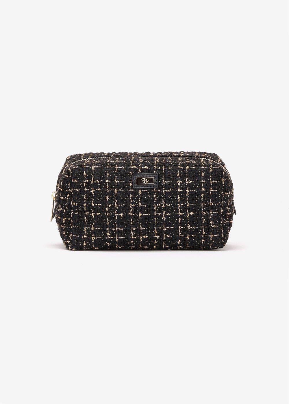 Bart bouclé-effect purse - Black\ Gold - Woman