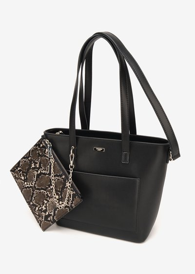 Bady shopping bag with python purse