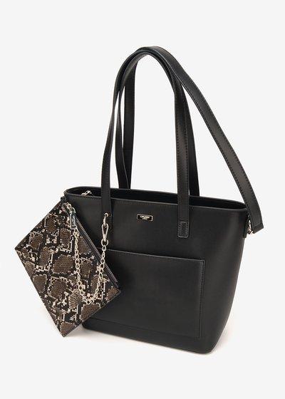 Bady shopping bag with python purse