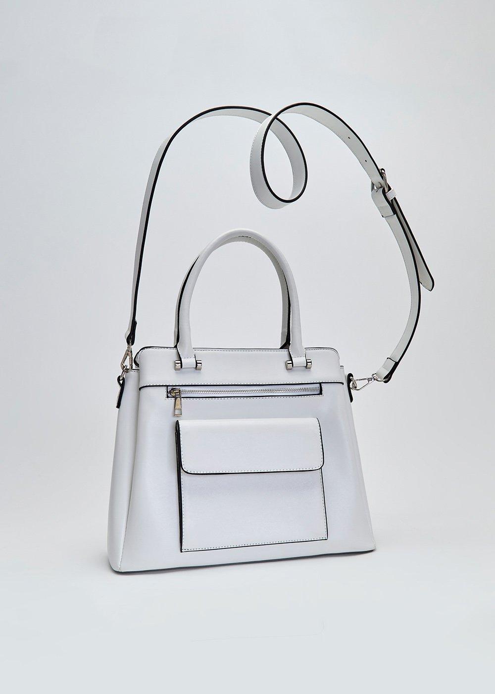 Badel multi-pocket trapezoid bag - White - Woman
