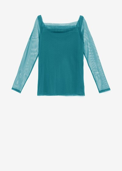 T-shirt Semmy in tulle a pois